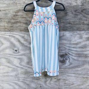 🍩 Belinda Striped Embroidered Sundress Size M